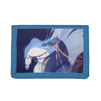 Cartera azul de los caballos