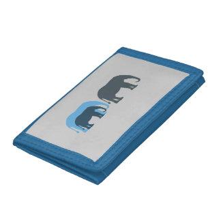 Cartera azul de los elefantes