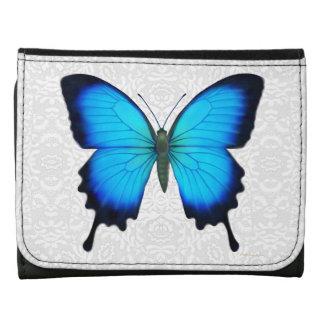 Cartera azul del cuero de la mariposa de Ulises