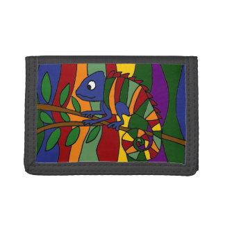 Cartera colorida del arte del camaleón