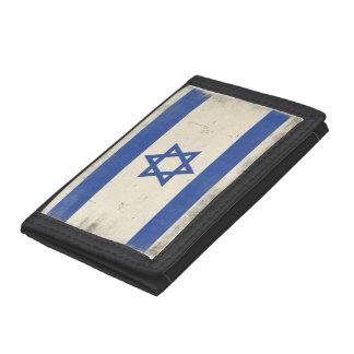 Cartera con la bandera apenada fresca de Israel