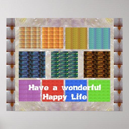 Cartera CRISTALINA: Tenga una vida feliz maravillo Poster
