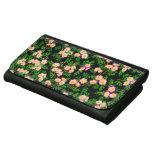 Cartera de cuero de los rosas rosados del jardín