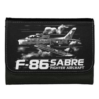 Cartera de cuero media de F-86 SABRE