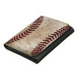 Cartera de encargo del cuero del béisbol del vinta