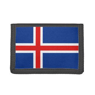 Cartera de la bandera de Islandia