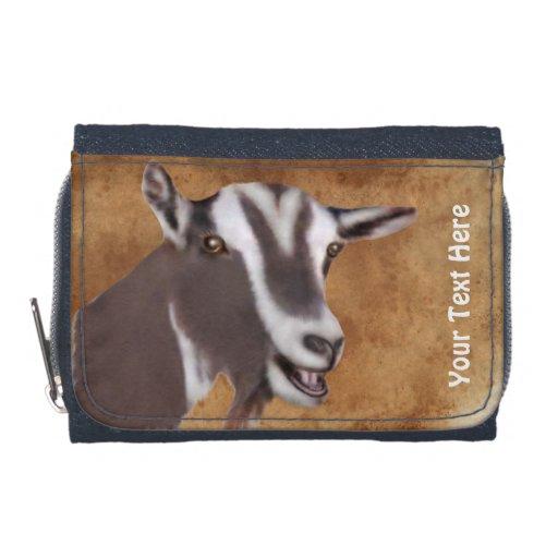 Cartera de la foto de la cabra de Toggenburg