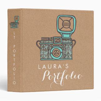 """Cartera de la fotografía de la cámara del vintage carpeta 1 1/2"""""""