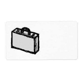Cartera de la oficina o maleta de los viajeros. Bo Etiquetas De Envío