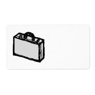 Cartera de la oficina o maleta de los viajeros. Bo Etiqueta De Envío