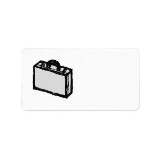 Cartera de la oficina o maleta de los viajeros. etiquetas de dirección