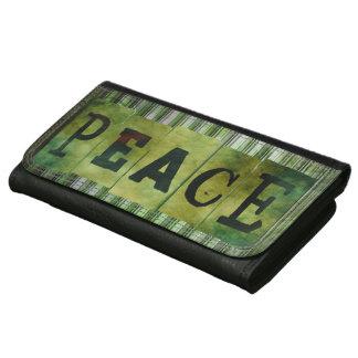 Cartera de la paz del Grunge