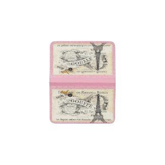 cartera de la tarjeta de visita de París del