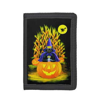 Cartera de nylon triple de Halloween, J-O-L, ratón