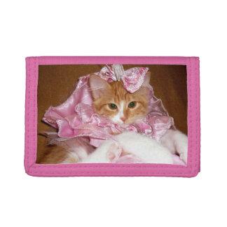 Cartera de tres pliegues bonita de princesa Kitten