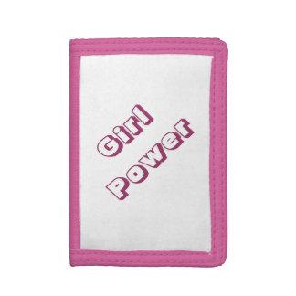 Cartera de tres pliegues rosada bonita del poder d