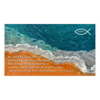 Cartera del cristiano del 1 3 del salmo tarjeta de visita