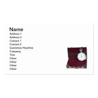 Cartera del cronómetro tarjeta personal