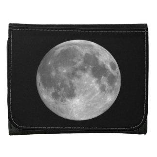Cartera del cuero de la astronomía de la Luna Llen
