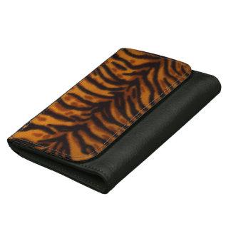 Cartera del cuero de la impresión del tigre