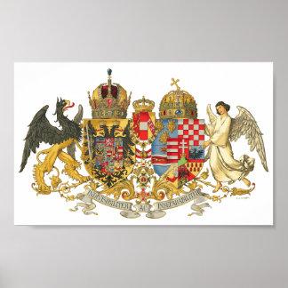 Cartera del escudo de armas de Austria-Hungría (19 Póster