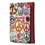 Cartera del Hippie de la paz y del amor del flower