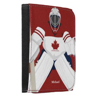 Cartera del portero del hockey del equipo de Canad
