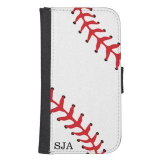Cartera del teléfono del diseño del softball del funda billetera para teléfono