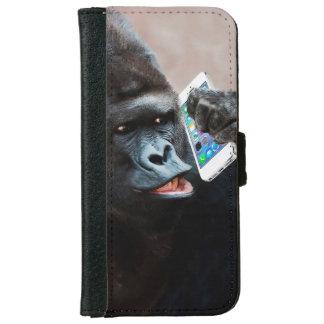 Cartera del teléfono móvil del gorila funda cartera para iPhone 6
