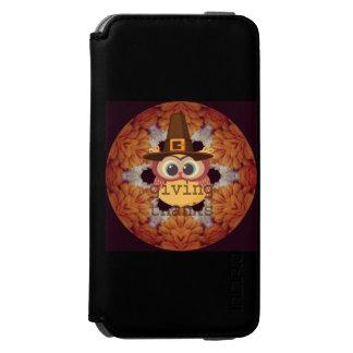 cartera divertida del búho iphone6 de la acción de funda billetera para iPhone 6 watson