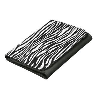 Cartera elegante del estampado de zebra