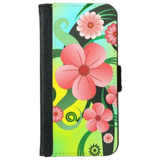 Cartera floral 6S del iPhone 6 del hibisco Funda Cartera Para iPhone 6