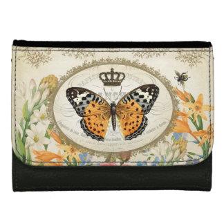 cartera francesa de la mariposa del vintage modern