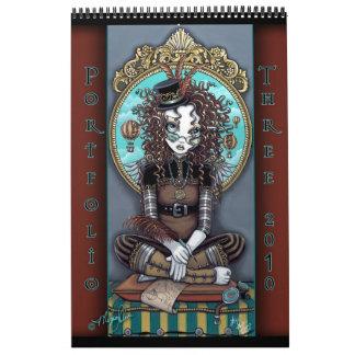Cartera gótica #3 del arte de la fantasía del arte calendario de pared