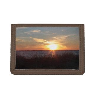 Cartera hermosa de la puesta del sol de Chincoteag