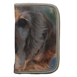 Cartera linda del perro de aguas planificador