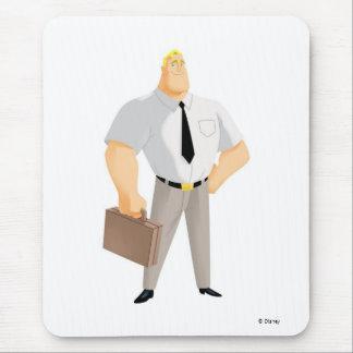 Cartera llana del civil de la ropa de Sr. Mousepad