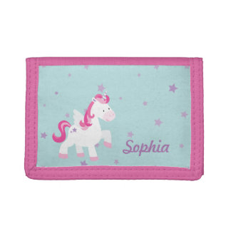 Cartera mágica rosada linda del unicornio