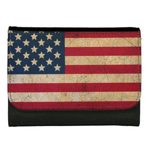 Cartera moderna de la bandera americana del Grunge