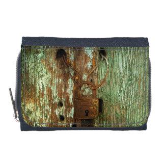 Cartera oxidada vieja del dril de algodón de la
