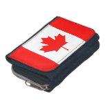 Cartera patriótica con la bandera de Canadá