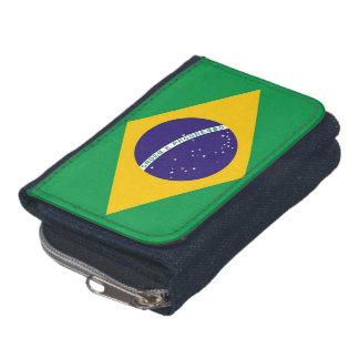 Cartera patriótica con la bandera del Brasil