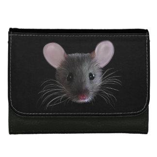 Cartera pequenita del cuero del ratón