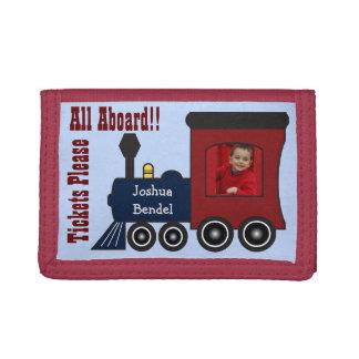 Cartera personalizada de Choo Choo del tren del va