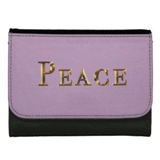 Cartera personalizada del diseño de la paz