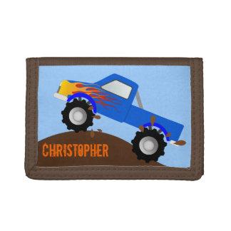 Cartera personalizada monster truck azul