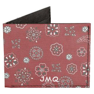 Cartera plegable del modelo rojo del pañuelo billeteras tyvek®