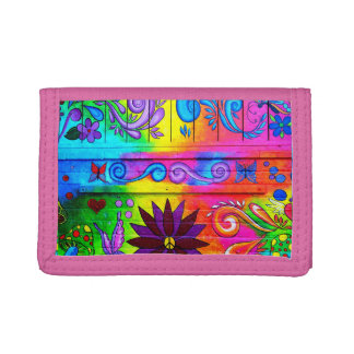 cartera psicodélica del hippie