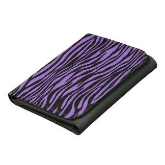 Cartera púrpura elegante del estampado de zebra