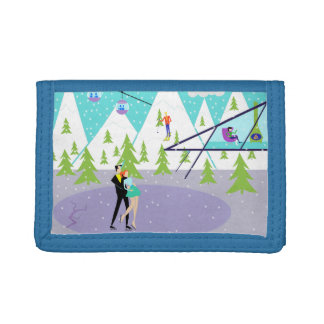 Cartera retra del nilón de la estación de esquí